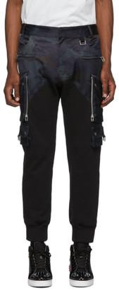 Faith Connexion Black and Navy Patrol Camo Cargo Pants