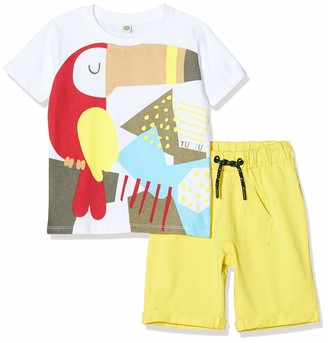Tuc Tuc Green Toucan Jersey T-Shirt and Bermudas Set for BOY Tropical Jungle