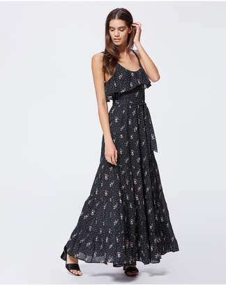 Paige Tevin Maxi Dress - Shale Western Rose