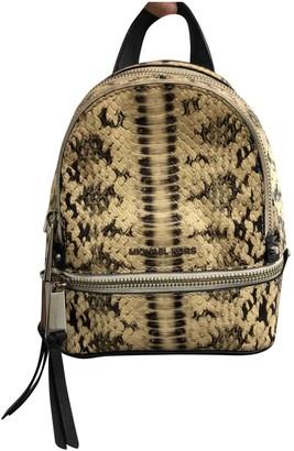 Michael Kors Beige Leather Backpacks