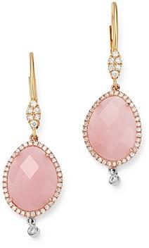 Meira T 14K Yellow & White Gold Guava Quartz & Diamond Drop Earrings