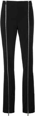 Rosetta Getty flared zipped trousers
