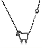 Julie Lamb Blackened Lamb Pendant Necklace
