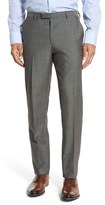 BOSS Men's 'Leenon' Flat Front Solid Wool Trousers