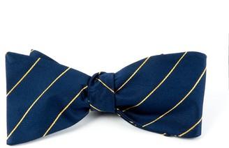 Tie Bar Pencil Pinstripe Navy Bow Tie