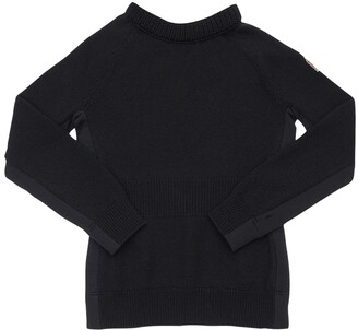 MONCLER GRENOBLE Two Tone Wool Knit Sweater