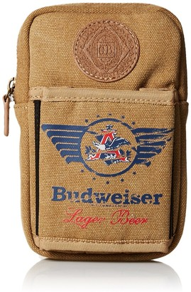 Budweiser by Buxton Men's Eagle Wings Belt Utility Pouch