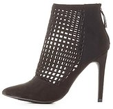 Charlotte Russe Perforated Pointed Toe Booties