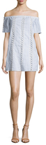 Lucca Couture Cotton Striped Criss Cross Shift Dress