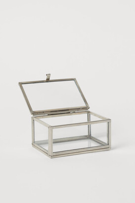 H&M Small Clear Glass Box - Silver