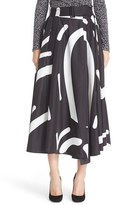 Max Mara Women's Ali Graphic Print Midi Skirt