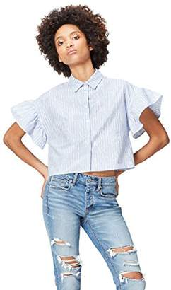 find. Women's Shirt in Box Shape with Short Sleeve Frill Trim, (Manufacturer Size: XX-Large)