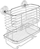InterDesign Lineo Power Lock Bathroom Shower Caddy Basket for Shampoo, Conditioner, Soap