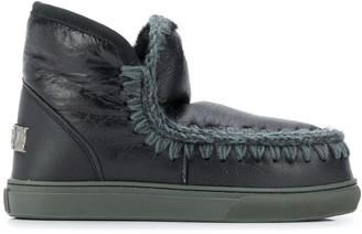 Mou Eskimo Stitched Shearling Boots