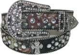 CTM Womens Western Rhinestone Cross on Mossy Oak Belt