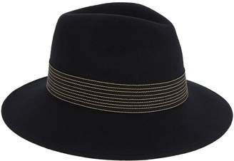 Peter Bettley Ribbon and Feather Fedora Hat