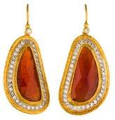 Gurhan 24K Mother of Pearl & Sapphire Doublet & Diamond Drop Earrings