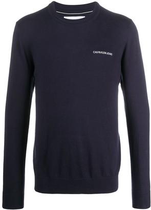 Calvin Klein Jeans Crew Neck Embroidered Logo Sweater