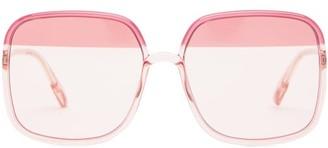Christian Dior So Stellaire Square Acetate Sunglasses - Womens - Pink Multi