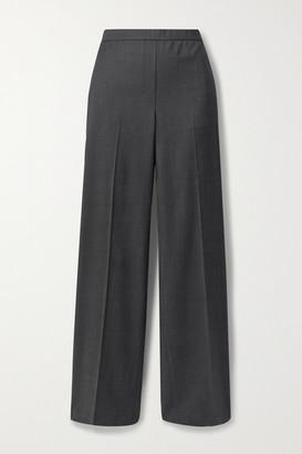 Theory Wool Wide-leg Pants - Dark gray
