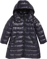 Moncler Moka Long Hooded Water Resistant Down Jacket