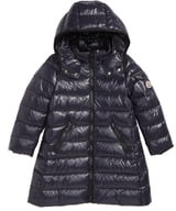 Moncler Moka Long Hooded Water Resistant Down Jacket