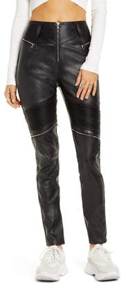 Tiger Mist Nero Faux Leather Skinny Pants