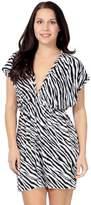 Simplicity Perfect Swimwear Bikini Cover Up for the Beach and Pool, 1-Zebra