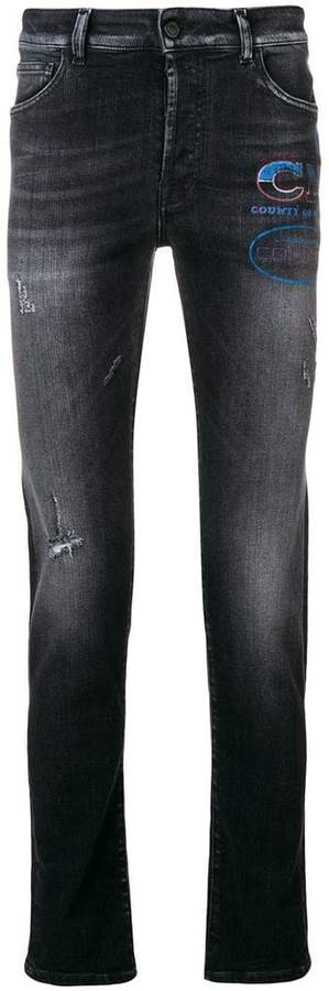 Marcelo Burlon County of Milan straight-leg jeans