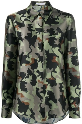 VIVETTA Camouflage Print Long-Sleeved Shirt