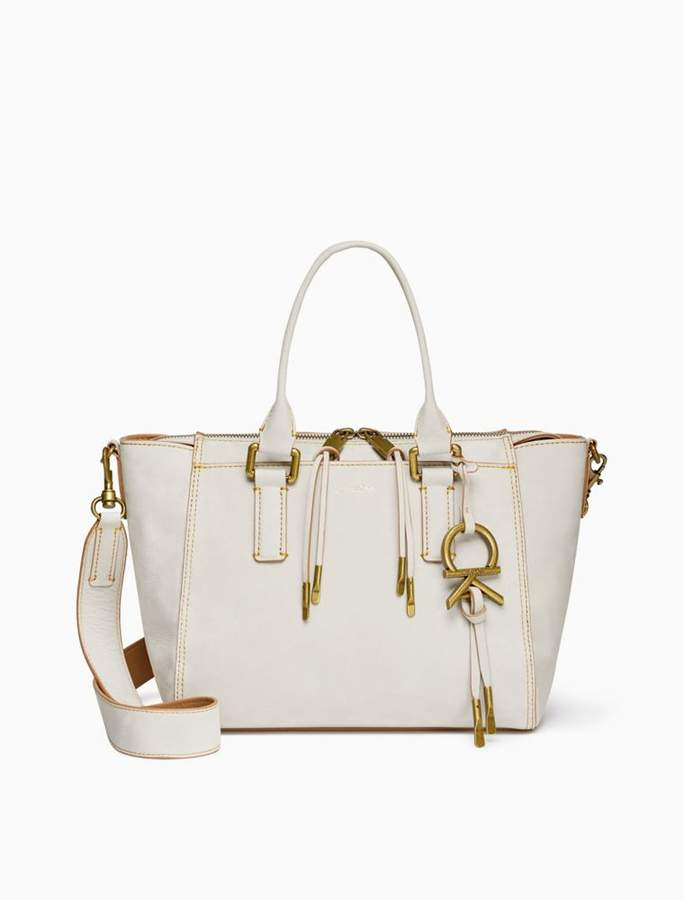 Calvin Klein leather zip satchel