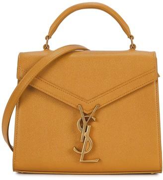 Saint Laurent Cassandra Mini Mustard Leather Top Handle Bag