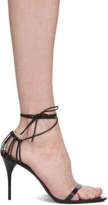 Saint Laurent Black Lexi 90 Heeled Sandals