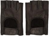 11 By Boris Bidjan Saberi Black Fingerless Gloves
