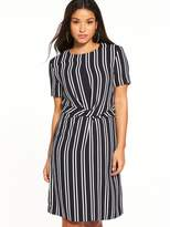 Warehouse Twist Front Stripe Dress