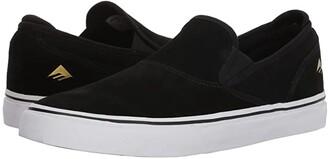 Emerica Wino G6 Slip-On (Black/White/Gold) Men's Skate Shoes
