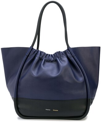 Proenza Schouler two-tone XL ruched tote bag