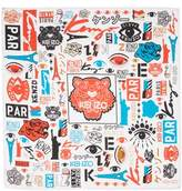 Kenzo Tiger Poster Silk Square Scarf