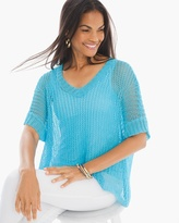 Chico's Textured Blossom Pullover