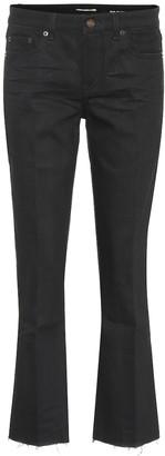 Saint Laurent Kick-flare cropped jeans