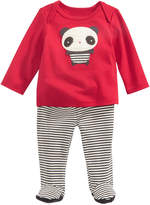 First Impressions 2-Pc. Panda-Print Top and Footed Pants Set, Baby Girls, Created for Macy's