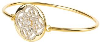 Latelita Celtic Knot Disc Bracelet Cuff Bangle Gold