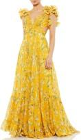 Thumbnail for your product : Mac Duggal Floral Chiffon Cutout Ballgown