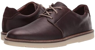 Clarks Grandin Plain (Dark Brown Tumbled Leather) Men's Shoes