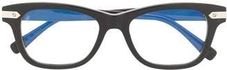 Hublot Eyewear polished square-frame glasses