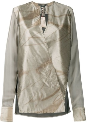 Gianfranco Ferré Pre-Owned 1990s Wrap Collarless Blouse