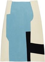 Acephala Color-Blocked Patchwork Skirt