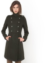 La Redoute R essentiel Military Wool Coat with Stand-Up Collar