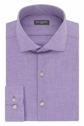 Van Heusen Men's Size FIT Dress Shirt Flex Collar Stretch Solid (Big and Tall)