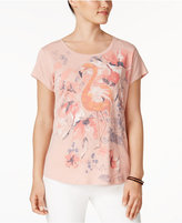 Style&Co. Style & Co Flamingo-Graphic T-Shirt, Only at Macy's